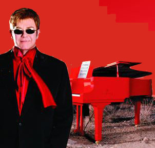 Elton Red piano